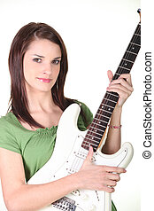 Woman with a guitar