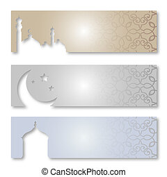 Ramadan Kareem - Eid Mubarak   - Islamic Greeting Card
