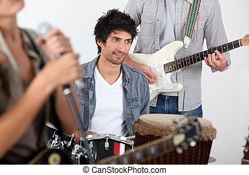 music band performing