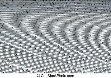 College Football Bleachers Seats - Bleacher seats at a...
