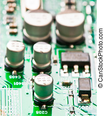 capacitors, transistors and other electronic components