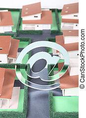 Model housing development