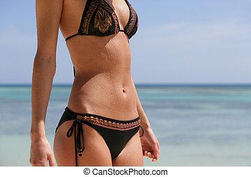 Close-up of woman in a bikini