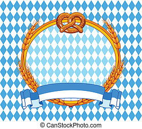 Oktoberfest background - Oktoberfest background with place...