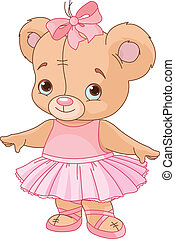 Cute Teddy Bear Ballerina - Very cute Teddy Bear Ballerina