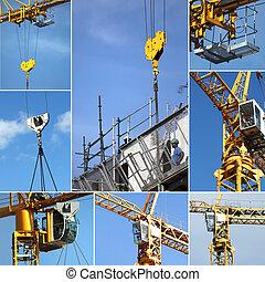 Montage on crane