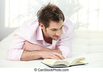 Man reading a novel