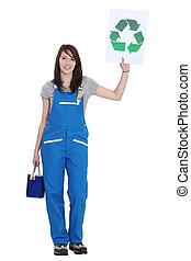 morena, pintor, tenencia, reciclaje, logotipo