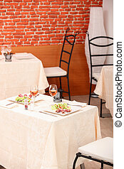 meal for two in a restaurant