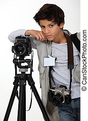 Child press photographer