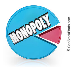 Monopoly Pie Chart Market Leader Unfair Competition - A pie...