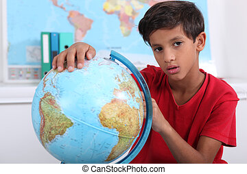 Pupil with globe