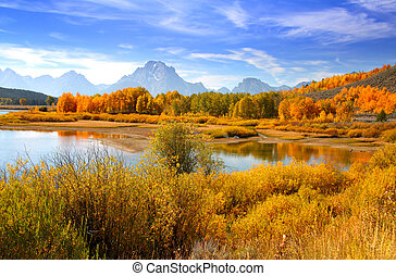 Grand tetons - Grand Tetons from oxbow bend