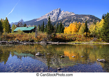 Grand Tetons - Grand tetons and Aspen reflections in autumn...