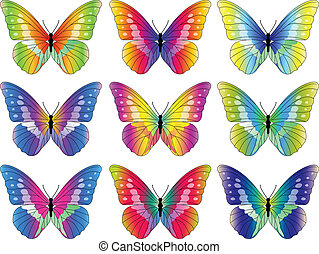 Butterfly Collection - Vector illustration of Butterfly...