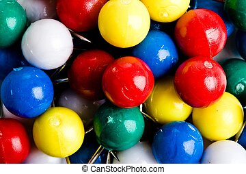 collection of colourful marbles