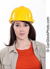 Portrait of woman laborer