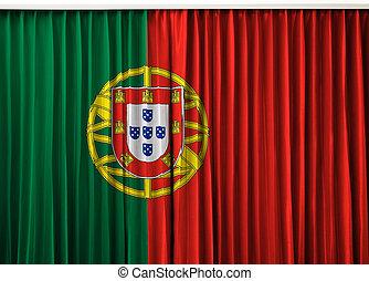 Portugal flag on curtain
