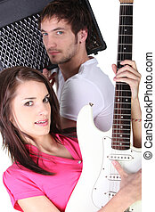 Couple in a band