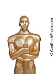 Oscar award on white background