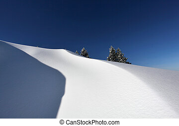 Pristine mountain snow