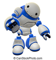 Software Security Bot Concept Pointing at Viewer - Large...