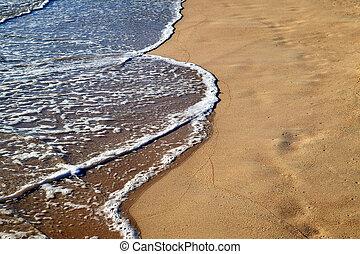 Foamy water on the beach