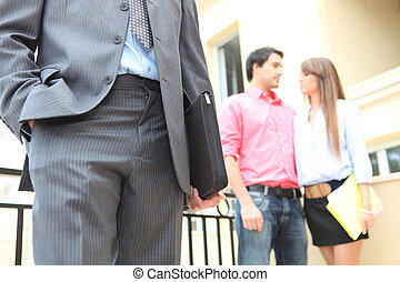 Couple viewing a property
