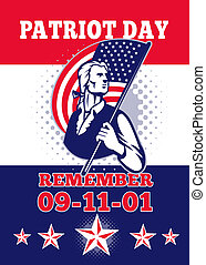 American Patriot Day Poster 911 Greeting Card - Poster...