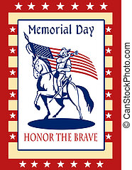 American Patriot Memorial Day Poster Greeting Card - Poster...