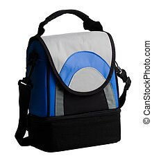 Lunch pack carrier with handle on a white background