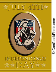 American Patriot Independence Day Poster Greeting Card -...