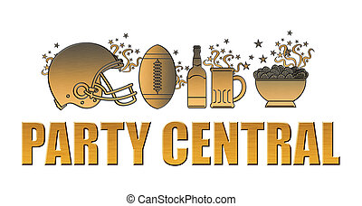 american football helmet ball beer chips party central -...