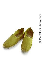 Green espadrilles
