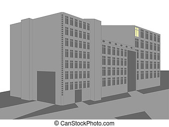 Industrial building - A building with manufacturing plants...