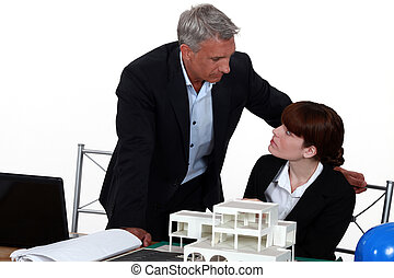 Architects discussing a  project