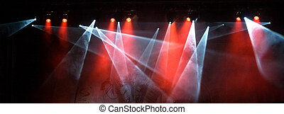 Concert Light Show - colorful lights in a concert stage