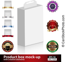 Product box mock-up with creative elements - Product box...