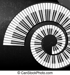 Grunge abstract background with piano keys - Abstract...