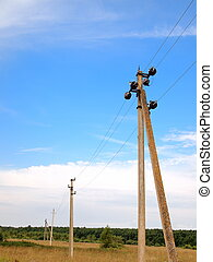 electric line in the field