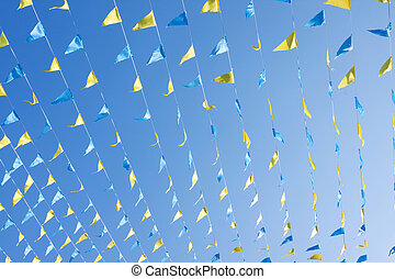 Colorful pennons - Triangle shaped pennants used for...
