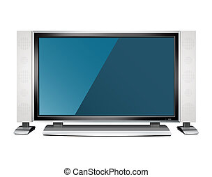 TV set isolated on white