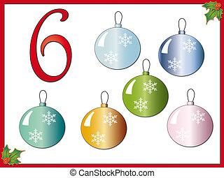 12 days of christmas: 6 Christmas balls