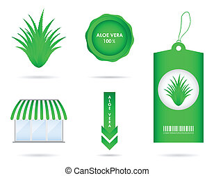 special aloe vera design elements