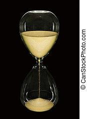 Hora, vidrio, negro