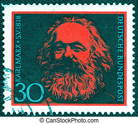GERMANY - CIRCA 1968: A stamp printed in Germany of Karl...