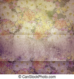 Vintage background with flowers - Vintage background with...