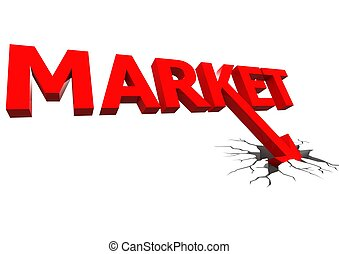 Market crash - Rendered artwork with white background