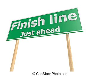 Street sign with finish line word