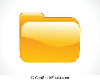 abstract shiny folder icon